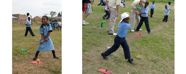 Some young talents enjoy the game of golf