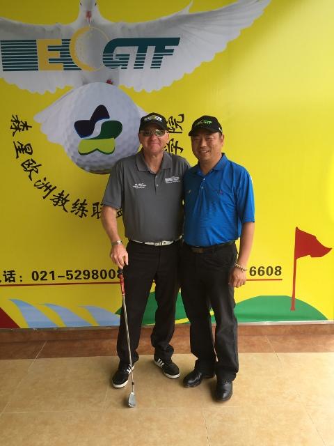 Bill Abbott EGTF Director of Education, and Jack Lee EGTF China Representative